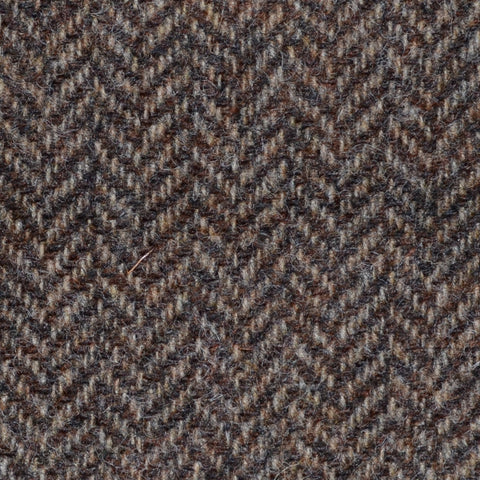 Brown Herringbone Shetland Tweed