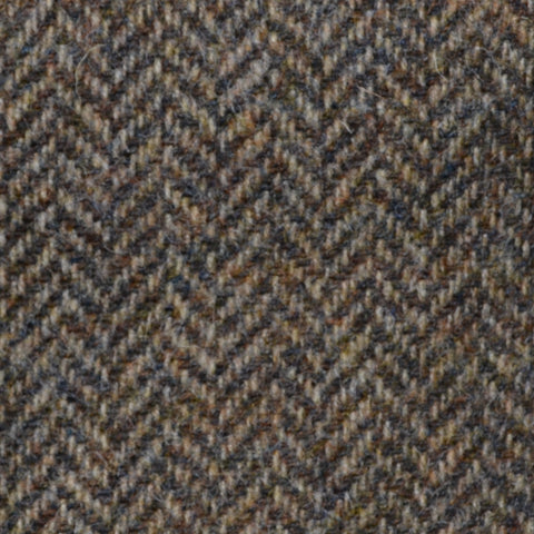 Country Brown Herringbone Shetland Tweed