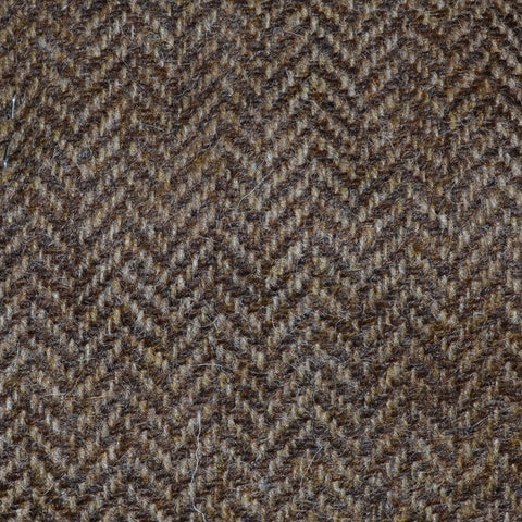 Light Brown Herringbone Shetland Tweed