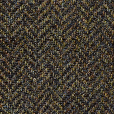 Tan Brown Herringbone Shetland Tweed