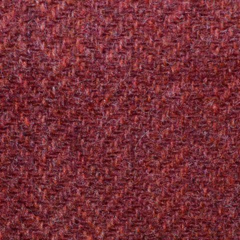 Venetian Red Herringbone Shetland Tweed