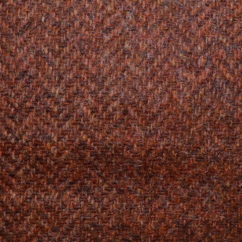 Burnt Orange Herringbone Shetland Tweed