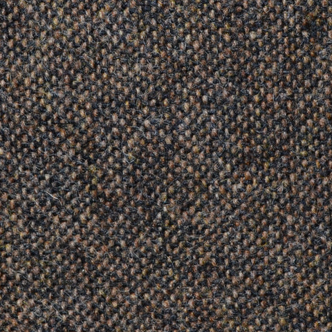 Dark Brown Salt & Pepper Donegal Shetland Tweed