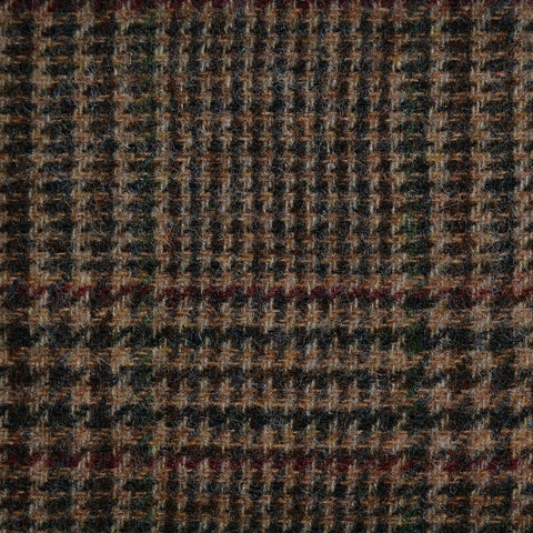 Brown with Green and Red Check Tweed
