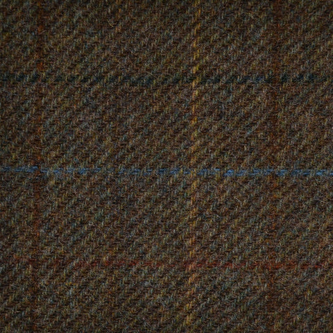 Brown with Green, Blue & Yellow Check Tweed