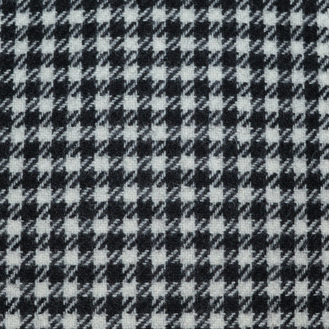 Black and White Dogtooth Check Tweed