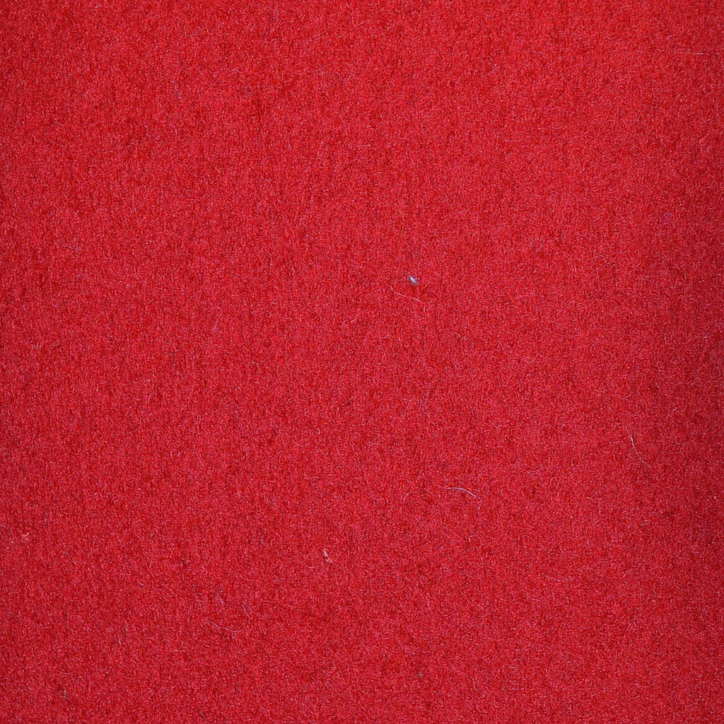 Cherry Red Melton Wool Coating