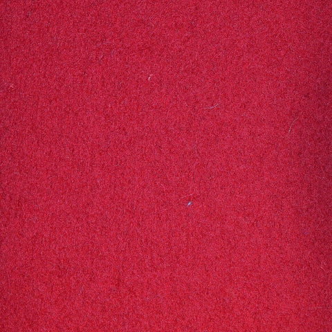 Raspberry Melton Wool Coating