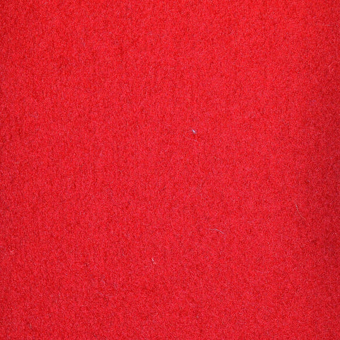 Red Melton Wool Coating