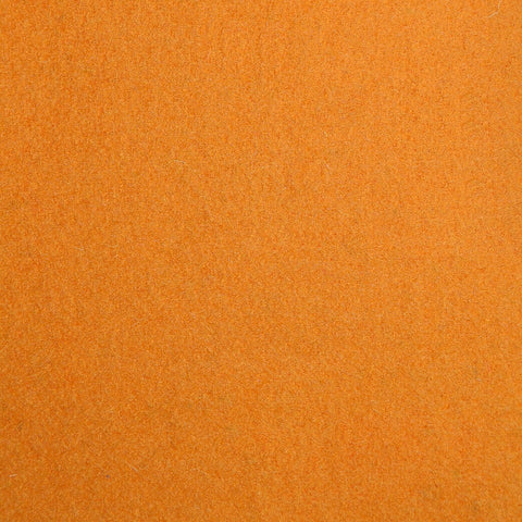 Orange Melton Wool Coating