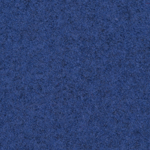 Steel Blue Marl Melton Wool Coating