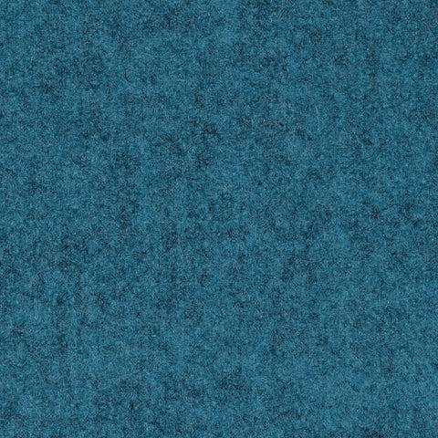 Turquoise Marl Melton Wool Coating