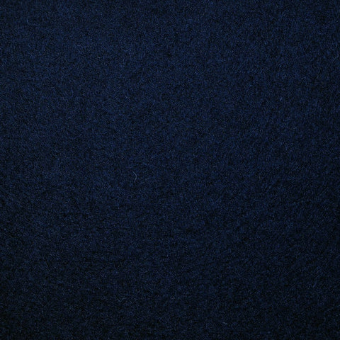 Dark Navy Blue Melton Wool Coating