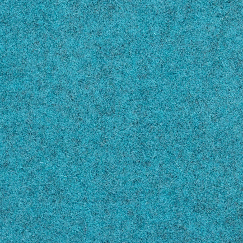 Turquoise Melton Wool Coating