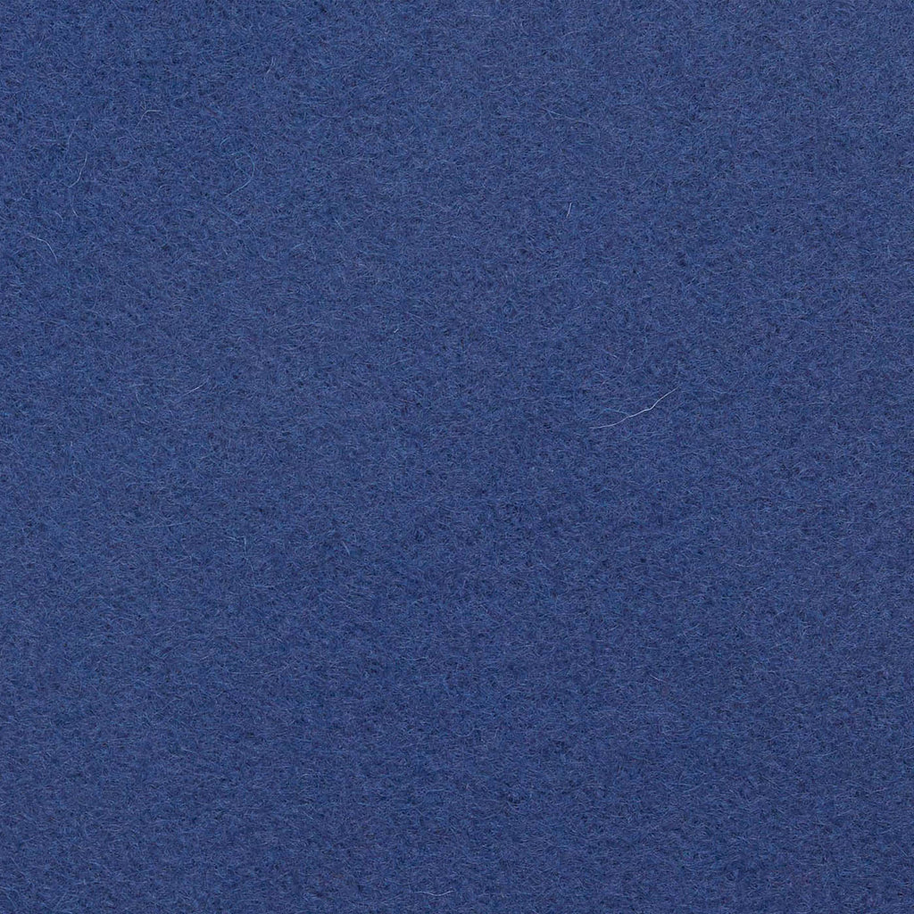 Denim Blue Melton Wool Coating
