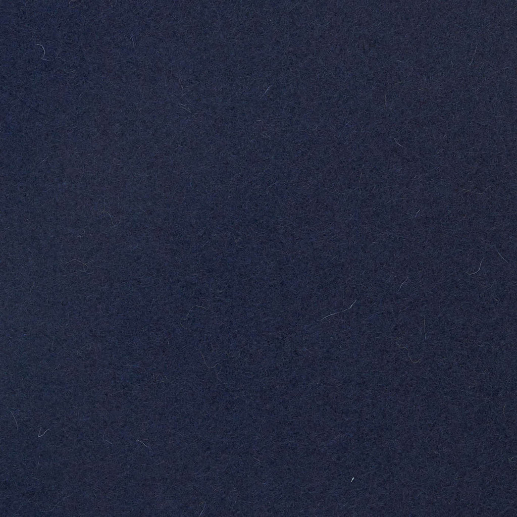 Navy Blue Melton Wool Coating
