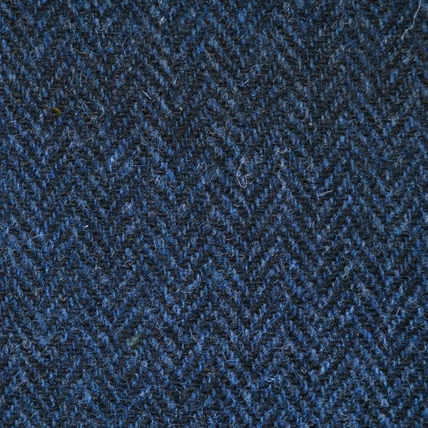 Medium Blue And Dark Blue Herringbone Harris Tweed