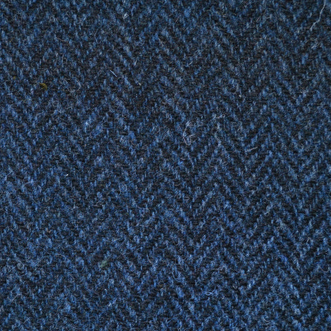 Bright Navy Blue Mohair & Super 110's Italian Wool