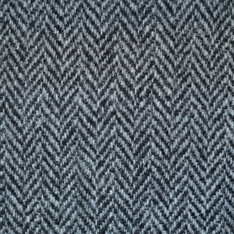 Grey and Black Herringbone Harris Tweed
