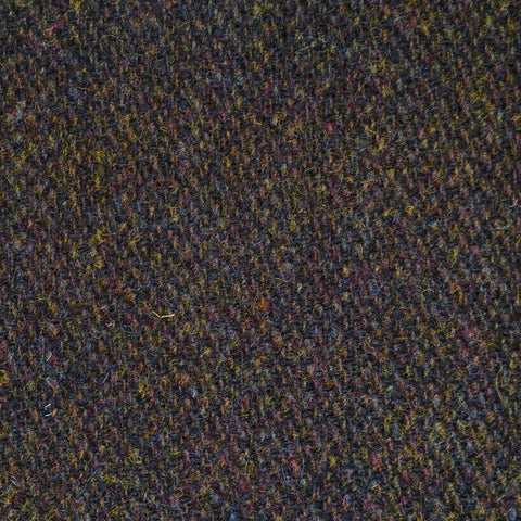 Tan and Dark Brown Melange Harris Tweed
