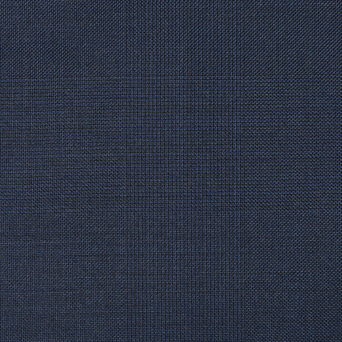 Navy Blue Glen Check Super 110's Italian Wool