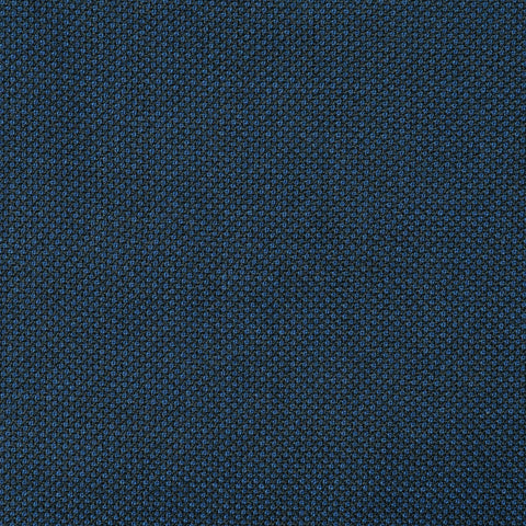 Bright Navy Blue Birdseye Super 110's Italian Wool