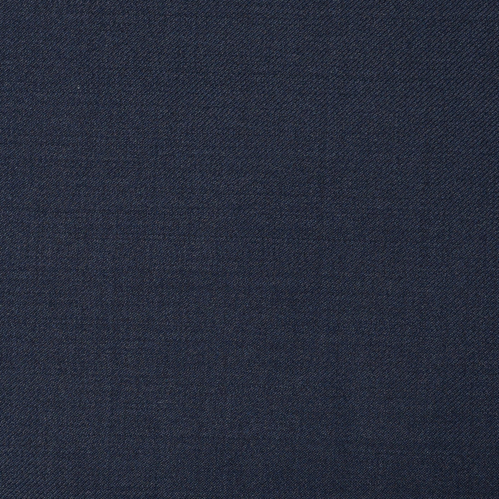 Bright Navy Blue Twill Super 110's Italian Wool