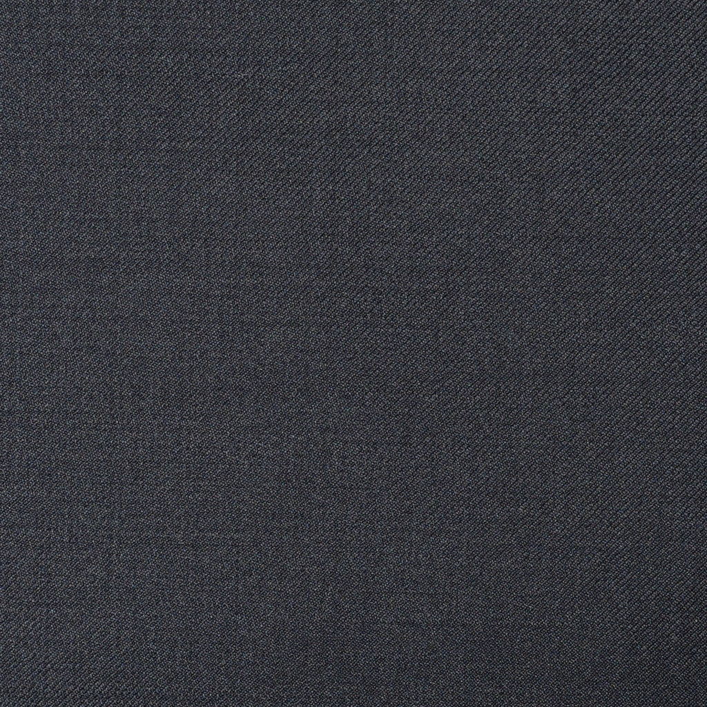 Dark Navy Blue Twill Super 110's Italian Wool