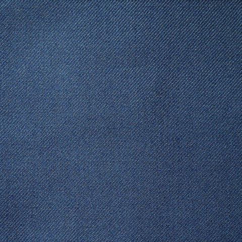 French Blue Twill All Wool Suiting