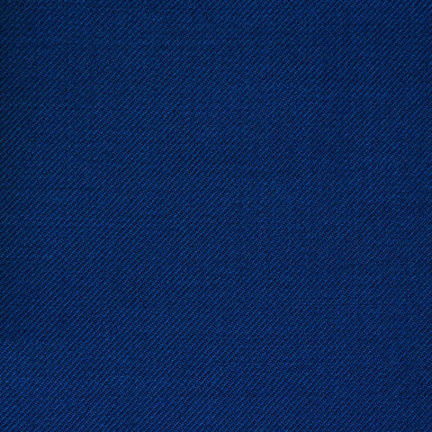 Bright Blue Twill All Wool Suiting