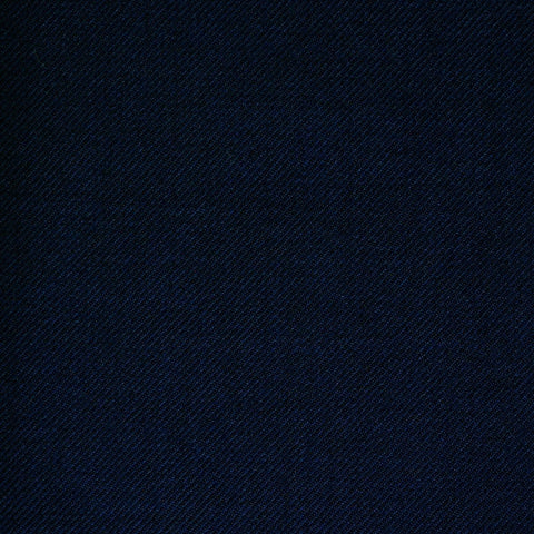 Navy Blue Twill All Wool Suiting