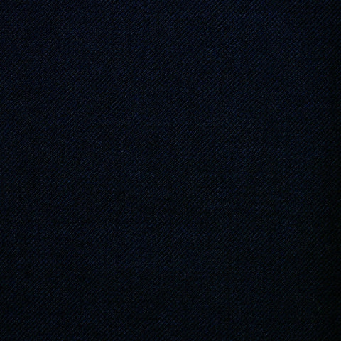 Dark Navy Blue Twill All Wool Suiting