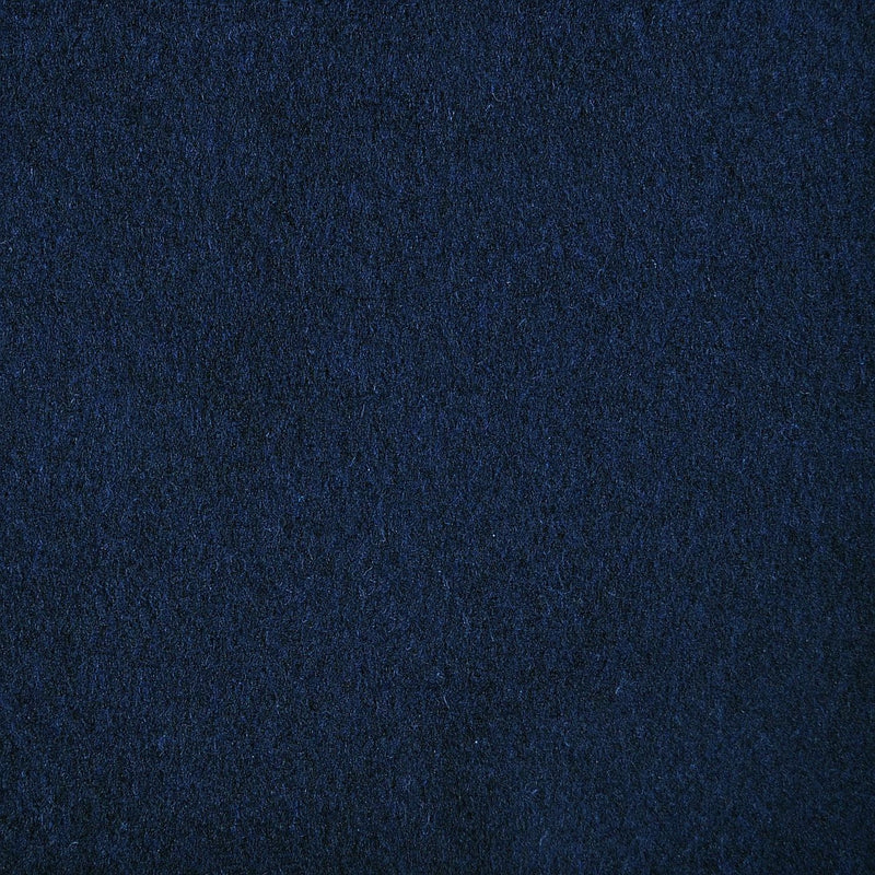 Navy Blue Wool & Cashmere Blend Coating
