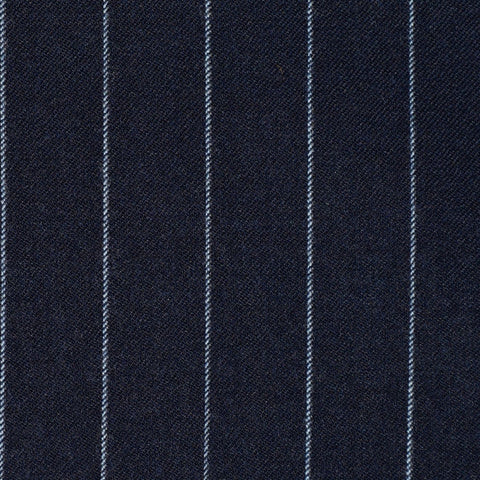 Bright Navy Blue Chalkstripe Super 110's Suiting