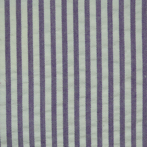 Purple and White Cotton Seersucker Jacketing