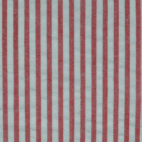 Red and White Cotton Seersucker Jacketing