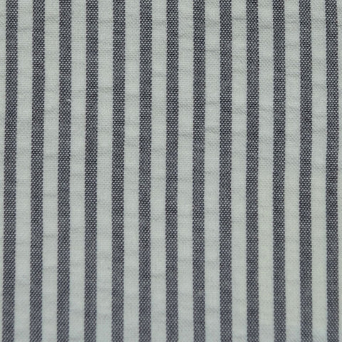 Grey and White Cotton Seersucker Jacketing