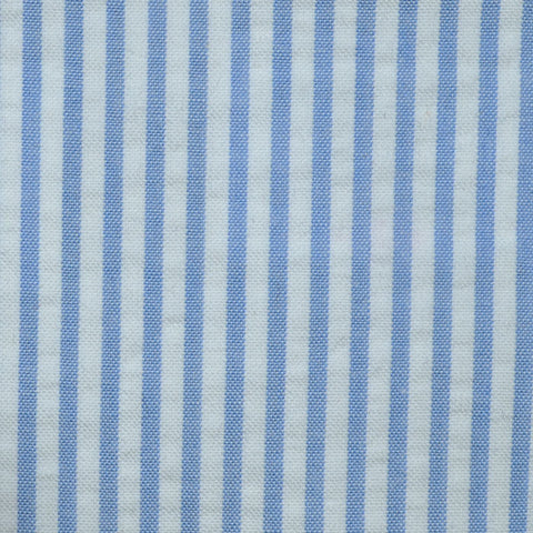 Blue and White Cotton Seersucker Jacketing
