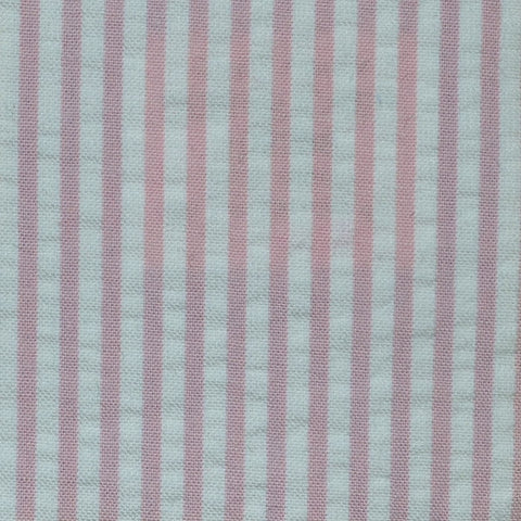 Pink and White Cotton Seersucker Jacketing