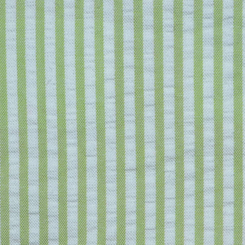 Green and White Cotton Seersucker Jacketing