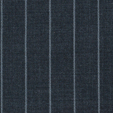 Grey Rope Stripe Super 120's All Wool Suiting