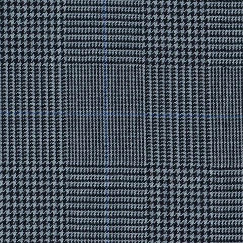 Grey Prince of Wales with Blue Check Super 120's All Wool Suiting
