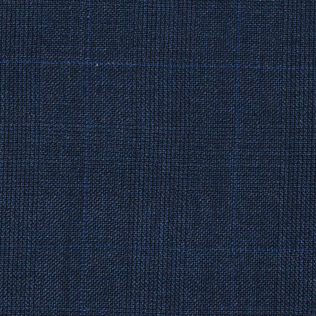 Navy Blue Prince of Wales Super 120's All Wool Suiting