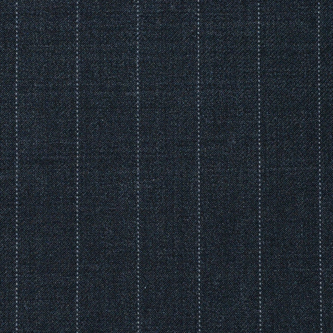 Grey Pinstripe Super 120's All Wool Suiting