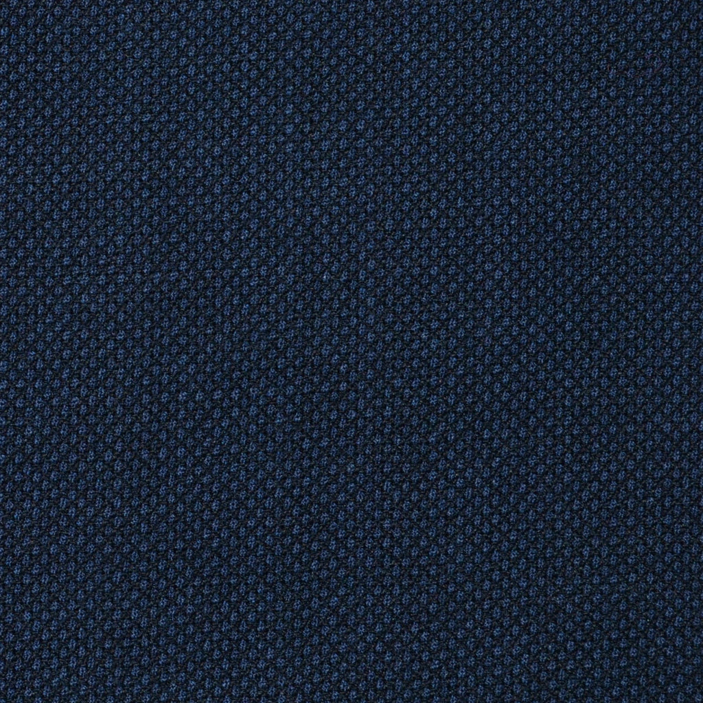 Navy Blue Birdseye Super 120's All Wool Suiting