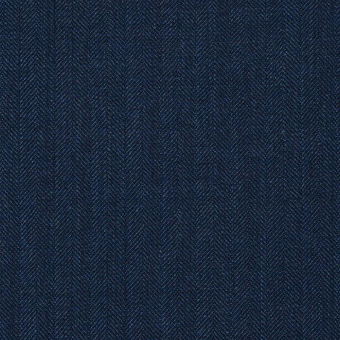 Blue Herringbone Super 120's All Wool Suiting