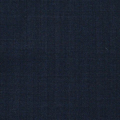 Navy Blue Herringbone Super 120's All Wool Suiting