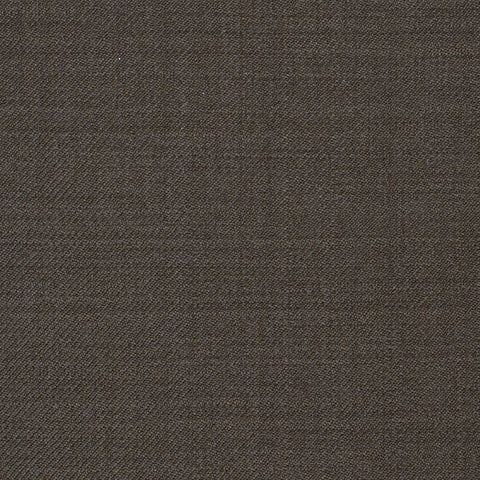 Medium Brown Plain Twill Super 120's All Wool Suiting