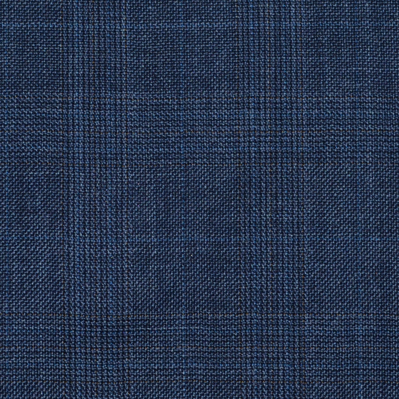 Blue Grey Glen Check Super 120's All Wool Suiting