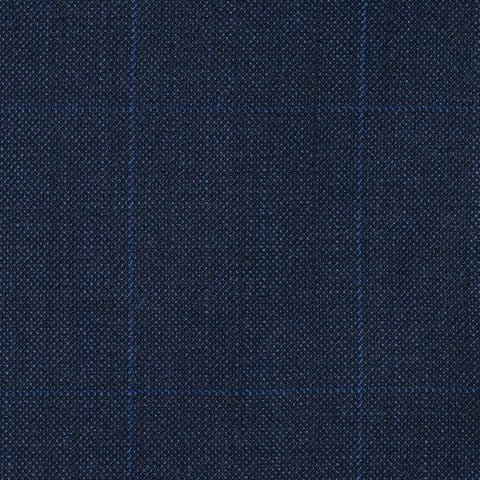 Blue Sharkskin Check Super 120's All Wool Suiting